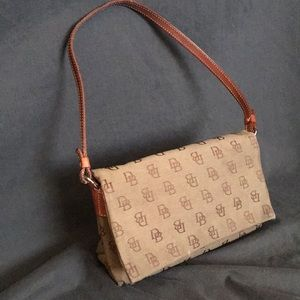 Dooney & Bourke Signature Jacquard Flap Baguette